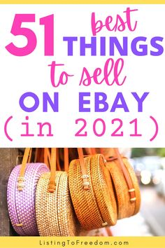 Click to find out the 51 MOST PROFITABLE items you should be selling on eBay THIS YEAR! #reselling | #poshmarktips | #makemoneyfast | #sidehustleideas | #makeextramoney | #sidejobs | #makemoney | #easywaystomakemoney | #howtomakemoney Make Money Fast, Make Money From Home, All Brands, Selling On Ebay, Vintage Dolls, Extra Money, Good Things, Things To Sell, Thrifting