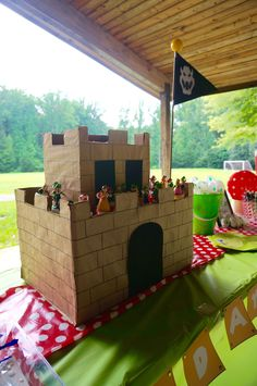 Super Mario Brothers Castle at a 6th birthday party