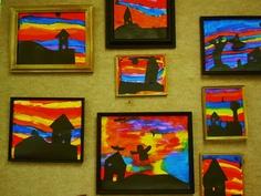 maison + fond en couleur