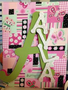 #canvas #name # baby gift #letters