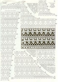 Doublet number 178 Intrigue lacy frost Discussion on LiveInternet - Russian Service Online Diaries Knitting Stiches, Crochet Stitches Patterns, Lace Patterns, Stitch Patterns, Crochet Instructions, Crochet Diagram, Crochet Chart, Russian Crochet, Irish Crochet