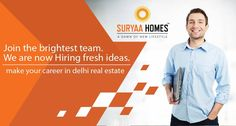 The real estate business is growing dynamically and the stars seem to be bright even in the near future! Make the most of the opportunity and join hands with us! For details, visit- www.suryaahomes.com
