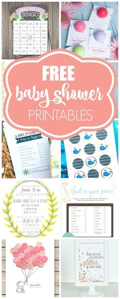 Free Baby Shower Printables on  prettymyparty.com.