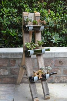 Garden Decoration with Bottles bottle crafts diy Garden Decoration with Bottles Wine Bottle Garden, Wine Bottle Planter, Wine Bottle Art, Wine Bottles, Barrel Projects, Bottle Cutting, Cutting Glass Bottles, Glass Bottle Crafts, Crafts With Bottles