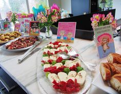 a children's lit baby shower, but also great ideas for cooking alongside great kids' books