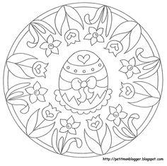 Foto: Easter Coloring Pages, Free Coloring Pages, Coloring Books, Easter Templates, Easter Art, Easter Crafts, Zentangle Patterns, Embroidery Patterns, Brazilian Embroidery