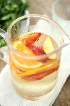 White Peach Sangria - so light and refreshing!