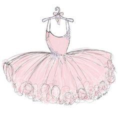 ballerina drawing with tutu Ballet Drawings, Girly Drawings, Easy Drawings, Ballerina Dress, Little Ballerina, Dress Drawing, Drawing Clothes, Pink Drawing, Balerina Drawing