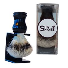 Shaving Brush With 100 Pure Badger Hair From Ship Shave Will Give You The Best Classic Wet Shave For The MoneyEnhance The Quality Of Your Shaving Experience Today -- For more information, visit image link.Note:It is affiliate link to Amazon. #HaiirstlyingAccessories