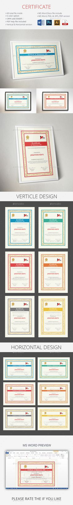Certificate Certificate templates, Certificate design and Brand - certificate template download