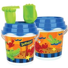 19065a1a59c Stephen Joseph Beach Buckets bright and colorful designs are perfect for a  day at the beach or make for the perfect sandbox and garden toy.