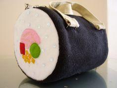 Handmade sushi roll handbag
