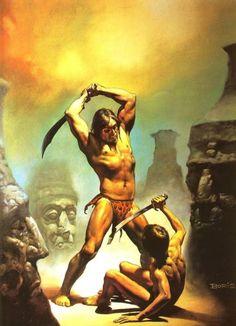 – Boris Vallejo  Amid the Stoneheads