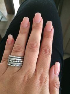 Acrylic nails with natural nail polish nail # nail polish # nature - Kitchen remodel - Nageldesign Natur Acrylic Nails Natural, Natural Fake Nails, Clear Acrylic Nails, Natural Nail Polish, Acrylic Nail Shapes, Acryl Nails, Super Nails, Trendy Nails, My Nails