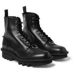 Neil Barrett - Leather Lace-Up Boots|MR PORTER
