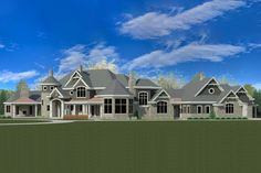 House Layout Plans, Dream House Plans, House Layouts, Large House Plans, Dream Houses, Garage Design, House Design, 5 Car Garage, Double Sided Fireplace