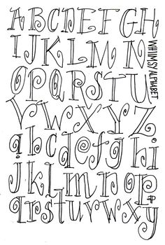 Handlettering on Behance Hand Lettering Alphabet, Doodle Lettering, Creative Lettering, Lettering Styles, Doodle Alphabet, Cute Fonts, Fancy Fonts, Bold Fonts, Cool Fonts To Draw