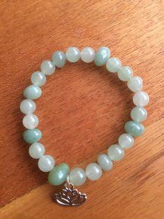 Green Aventurine bracelet by wellbeingbliss on Etsy