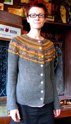 King of Confidence Sweater  -- love this sweater using some handspun and cascade 220