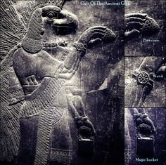 "The Anunnaki - ""Those who from heaven came"" - are a group of deities in ancient Mesopotamian cultures.    The Anunnaki appear in the Babylonian creation myth, Enuma Elish. In the late version magnifying Marduk, after the creation of mankind, Marduk divides the Anunnaki and assigns them to their proper stations, three hundred in heaven, three hundred on the earth."