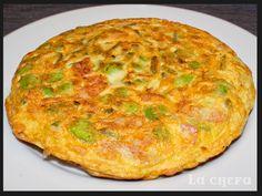 Esta tortilla queda deliciosa gracias a la combinación de las habas con porrines y bacon. http://lachefa.es/2014/05/09/tortilla-de-habas-porrines-y-habas/