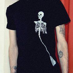 Partial Mermaid Skeleton T-shirt