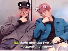 """Im happy to pronounce to you, husband and wife, Kim Namjoon and Kim Seok-Jane"""