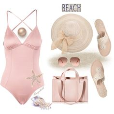 How To Wear Pink Swimwears Outfit Idea 2017 - Fashion Trends Ready To Wear For Plus Size, Curvy Women Over 20, 30, 40, 50