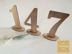 Wedding Table Numbers - Standing