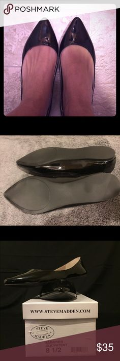 Steve Madden Black Flats Pointed toe black flats Steve Madden Shoes Flats & Loafers