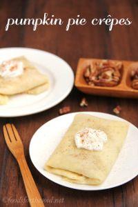 New Fall Dessert Recipe: Pumpkin Pie Crepes