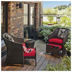 Threshold™ Loft 5-Piece Wicker Patio Conversation Furniture Set - Red