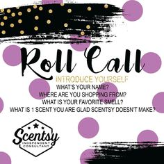 Roll Call! Who's shopping Scentsy with me