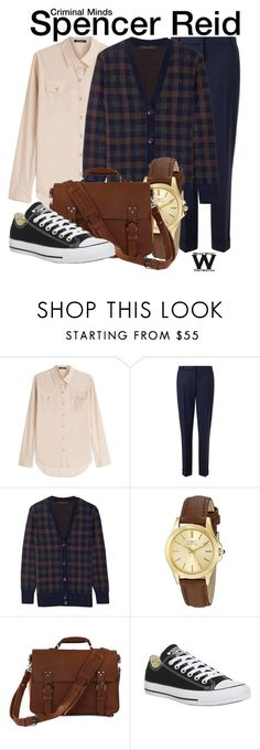 """""""Criminal Minds"""" by wearwhatyouwatch ❤ liked on Polyvore featuring Balmain, Jigsaw, Marc Jacobs, Invicta, Converse, television and wearwhatyouwatch"""