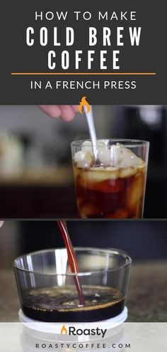 Did you know you can brew your coffee cold without hot water? Confused? Don't be. Click on for Roasty's guide on how to make cold brew coffee in a French press. It's an easy guide to follow. Enjoy! #coldbrewcoffee #howtomakecoldbrew #frenchpresscoffee #frenchpresscoldbrew #makeyourowncoffee #coffeerecipe