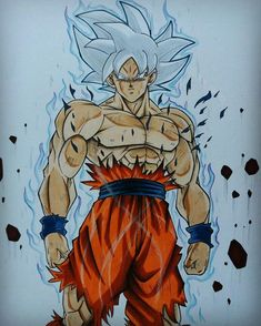 Black Goku, Goku Blue, Marvel Drawings, Cool Drawings, Dragon Ball Z, Goku Drawing, Marvel Fan Art, Bleach Anime, Anime Kawaii