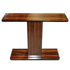 French Art Deco Exotic Macassar Ebony Console Table, circa 1940's, | From a unique collection of antique and modern console tables at http://www.1stdibs.com/furniture/tables/console-tables/