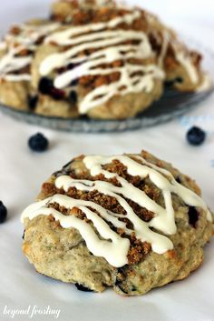 Blueberry Streusel Cheesecake Cookies