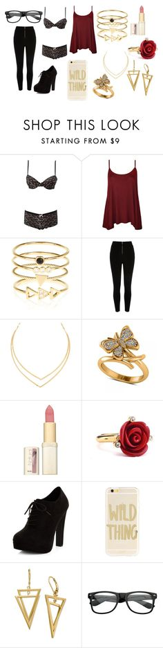 """""""sexy and casual #4"""" by genmoorer ❤ liked on Polyvore featuring Charlotte Russe, WearAll, Accessorize, River Island, Lana, Allurez, L'Oréal Paris, Oscar de la Renta, New Look and Sonix"""