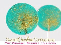 Teal and Gold Wedding Favors Hard Candy by SweetCarolineConfect