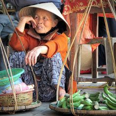Lady of the market ~ Hue, Vietnam