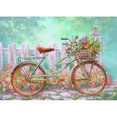 belles images - Page 2 Decoupage Vintage, Decoupage Paper, Bicycle Painting, Bicycle Art, Arte Sketchbook, Illustration, Diamond Art, Painting Frames, Watercolor Art