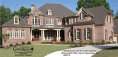 Garrell Associates,Inc. Braymoore Manor House Plan # 06143, Front Elevation, Traditional Style House Plans, Estate Size House Plans (4,813 s.f.) Design by Michael W. Garrell