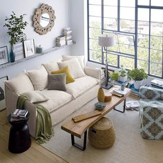 Love this beautiful room from Crate & Barrel