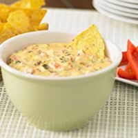 Cheesy spinach and bacon dip!!  I added 2 c. of cheddar cheese too..    YUMMY