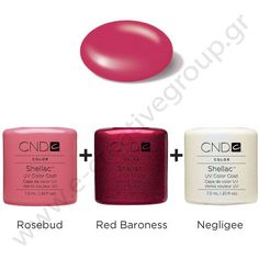 CND Shellac - rosebud-_-red-baroness-_-negligee