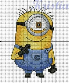 free cross stitch patterns: minions - Google Search