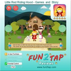 Little Red Riding Hood - Games  and  Story - A new twist on an old favorite. Full review at: http://fun2tap.com/index.cfm#id2467 --------------------------------------------- #apps #iosApps #iPad #iPhone #games