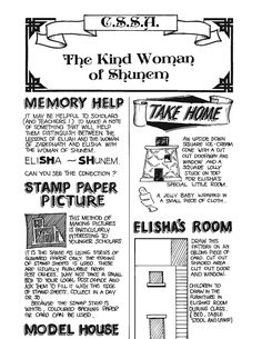 Create the activity sheets instructions about Elisha and the Shunnamite woman! Activity Sheets, How To Make Notes, Sunday School, Activities, Woman, Create, How To Take Notes, Women