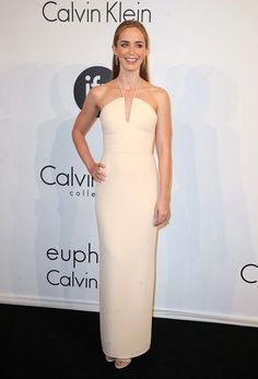 Emily Blunt in Calvin Klein at the Calvin Klein party, Cannes 2015